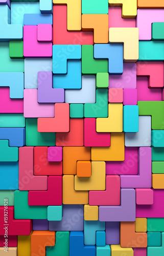 3d-abstrakcyjne-tlo-z-wielokolorowych-ksztaltow-w-stylu-tetris