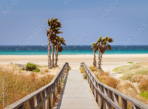 beach of Tarifa, Andalusia, Spain, Wallpaper Mural