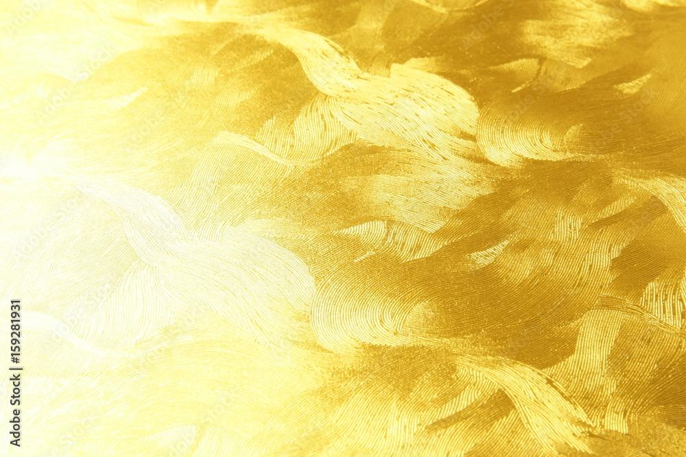 Fototapety, obrazy: 金色の和紙 背景