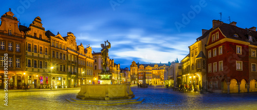 Obraz na dibondzie (fotoboard) rynek w Poznaniu