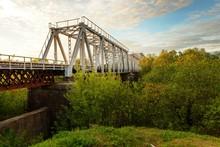 An Iconic Old Metal Truss Railroad Bridge