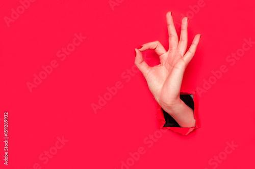 Valokuva  Crop female hand gesturing