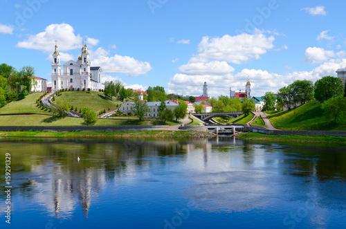 Fotografie, Obraz  Beautiful view of historical center of Vitebsk over Western Dvina, Belarus