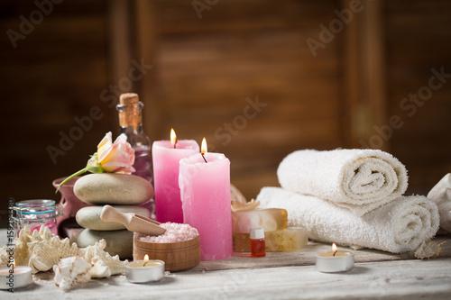 Foto op Plexiglas Spa Beautiful composition of spa treatment
