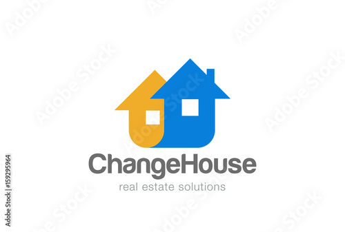 Real Estate Logo abstract design vector