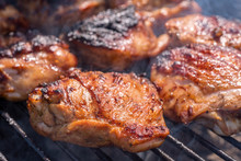 Grilled Chicken Thigh On The G...