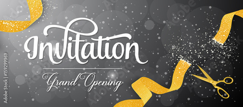 Fotografie, Obraz Invitation Grand Opening Lettering