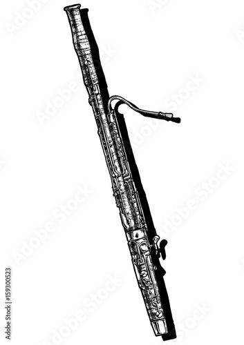 illustration of bassoon Canvas Print