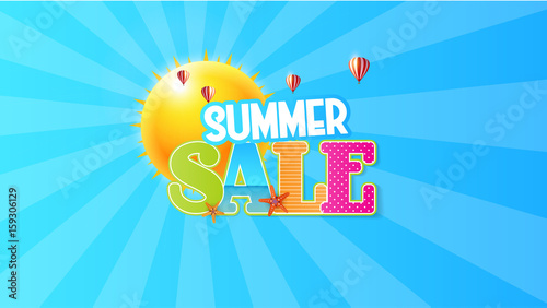 Canvas Prints Textures Summer Sale Quality Vector Abstract Design,