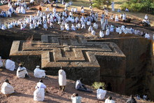 Religious Ceremony (St George's Day) At St George's Church Lalibela, Ethiopia