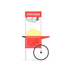 Red Popcorn Cart