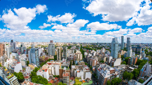 Garden Poster Buenos Aires View of the skyline of Buenos Aires on a sunny day