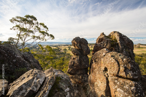 Obraz na plátně  Hanging Rock in Macedon Ranges