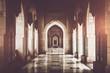 Leinwanddruck Bild - Archway inside of Grand Mosque, Sultanate of Oman