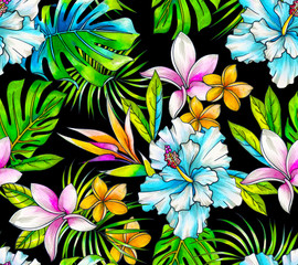 dark tropical pattern