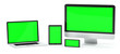 Leinwanddruck Bild - Modern computer laptop mobile phone and tablet 3D rendering