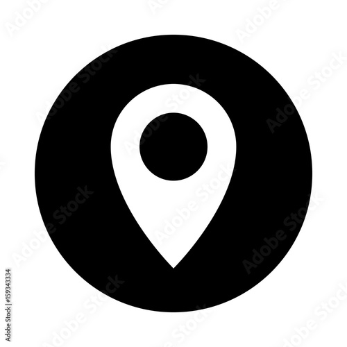 Map Pointer Circle Icon Black Round Minimalist Icon Isolated On White Background Map Pointer Simple Silhouette Web Site Page And Mobile App Design Vector Element Buy This Stock Vector And Explore