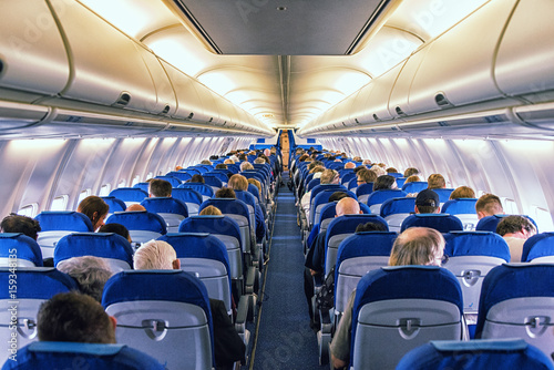 Poster Avion à Moteur Commercial airliner cabin