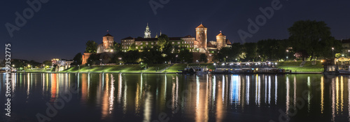 Panorama of Wawel Royal castle in Krakow, Poland
