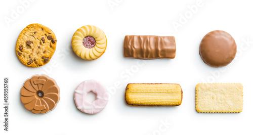 Various sweet biscuit. Fotobehang