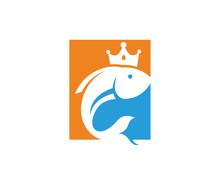 King Fish Logo Template Design Vector, Emblem, Design Concept, Creative Symbol, Icon