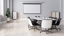 Modern Meeting Room With Proje...