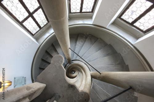 Foto op Plexiglas Trappen Wendeltreppe
