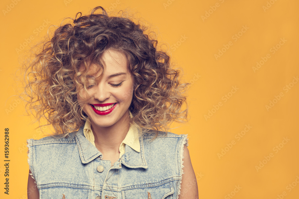 Fototapety, obrazy: bright beautiful girl looking down