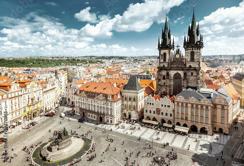 Printed kitchen splashbacks Prague Old Town Square in Prague