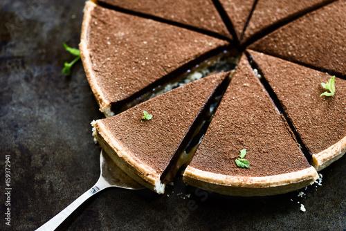 Fototapeta Salted Caramel and Chocolate Tart