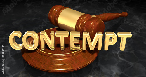 Contempt Law Concept 3D Illustration Wallpaper Mural