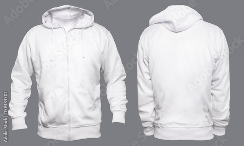 9884f1fe4bf Blank sweatshirt mock up template, front, and back view, isolated on ...