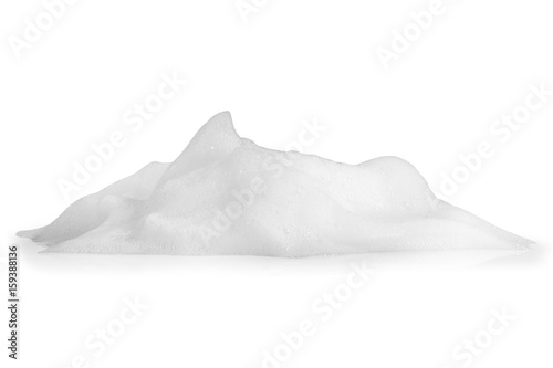 Valokuva  white foam bubbles texture isolated on white background