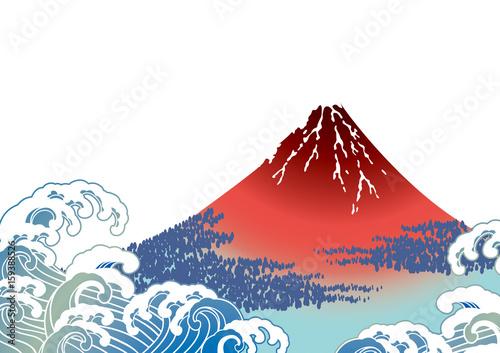 Obraz na plátně 日本画  富士山  白