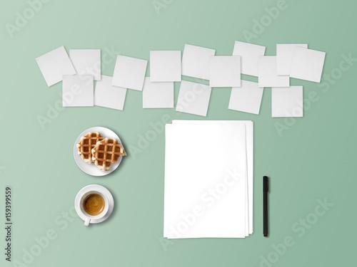 Concept of writing with many notes of ideas. Tapéta, Fotótapéta