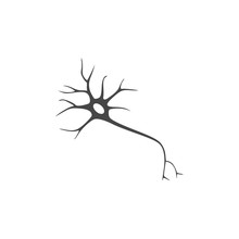 Nerve Cell Icon Flat Graphic Design - Illustration