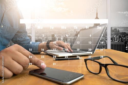 Obraz Appointment Reminder to Calendar and Organizer Agenda - fototapety do salonu