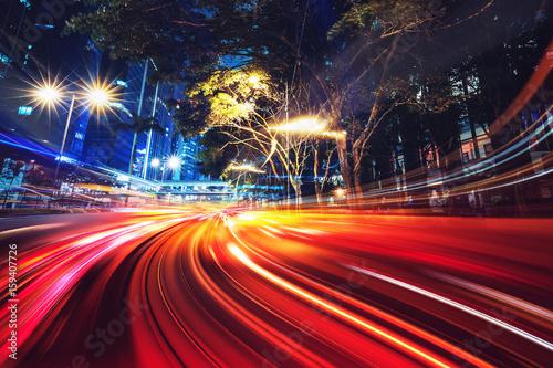 Plakat Abstrakcjonistyczny ruch prędkości oświetleniowy tło