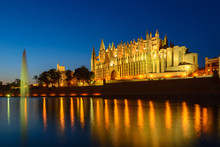 Illuminated Cathedral Of Palma...
