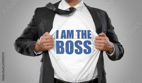 Canvastavla  I am the Boss / Man open Shirt