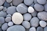 Fototapeta Kamienie - Abstract smooth round pebbles sea texture background