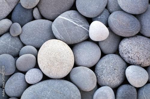 Fotografía  Abstract smooth round pebbles sea texture background