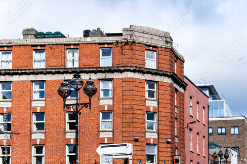 Traditional antique city building in Dublin Ireland Poster