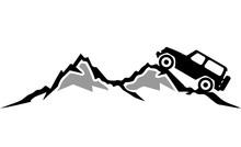 Silhouette Auto Berge