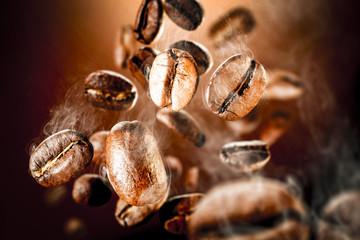 Fototapeta Do gastronomi coffee splash