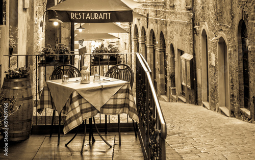 Canvas Prints Pizzeria sidewalk restaurant