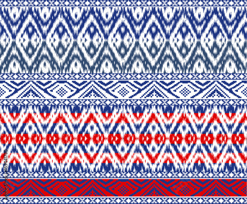 Cotton fabric seamless Tribal border Patterns