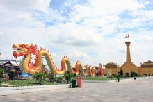 Red Dragon In Dai Nam Golden Temple On 23 Oct 2016 - Vietnam, Dai Nam Is Also Called Tu An Temple (Temple Of Four Gratitude), A Reminder Of The Origins Of The Vietnamese