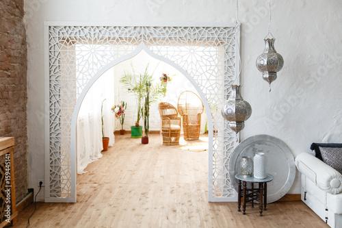 Fotografia  Eastern traditional interior. Arabic style room