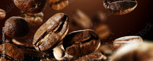 Cadres-photo bureau Café en grains coffee splash
